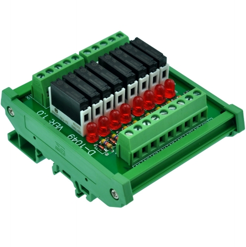 CZH-LABS Slim DIN Rail Mount DC5V Sink/NPN 8 SPST-NO 5A Power Relay Module, APAN3105