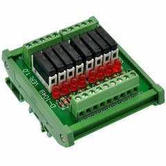 CZH-LABS Slim DIN Rail Mount DC24V Sink/NPN 8 SPST-NO 5A Power Relay Module, APAN3124
