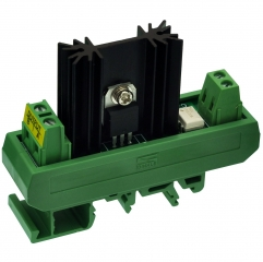 CZH-LABS DIN Rail Mount 1 Channel 8 Amp Solid State Relay SSR Module, in 4~32VDC, out 100~240VAC.