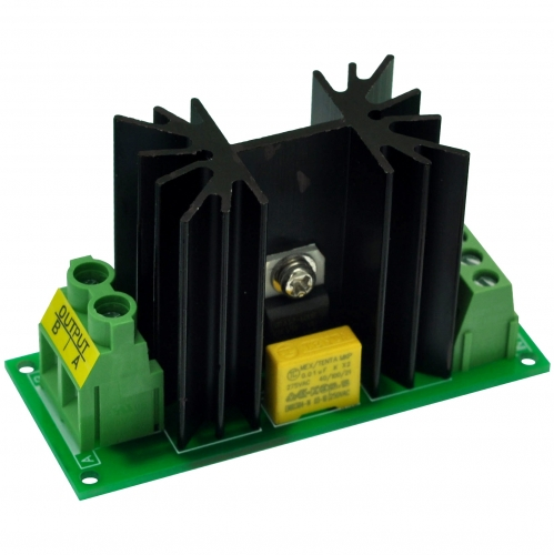 CZH-LABS 1 Channel 12 Amp Solid State Relay SSR Module, in 4~32VDC, out 100~240VAC.