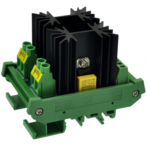 CZH-LABS DIN Rail Mount 2 Channel 12 Amp Solid State Relay SSR Module, in 4~32VDC, out 100~240VAC.