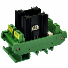 CZH-LABS DIN Rail Mount 2 Channel 8 Amp Solid State Relay SSR Module, in 4~32VDC, out 100~240VAC.