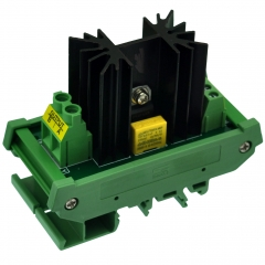 CZH-LABS DIN Rail Mount 1 Channel 12 Amp Solid State Relay SSR Module, in 4~32VDC, out 100~240VAC.