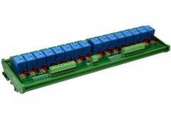 ELECTRONICS-SALON DIN Rail Mount 16 SPDT Power Relay Interface Module, 10A Relay, 48V Coil.