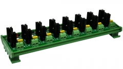 ELECTRONICS-SALON DIN Rail Mount 8 Channel 6 Amp SSR Module Board, in 4~32VDC, out 100~240VAC.