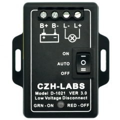 CZH-LABS Low Voltage Disconnect Module LVD, 12V 30A, Protect/Prolong Battery Life.