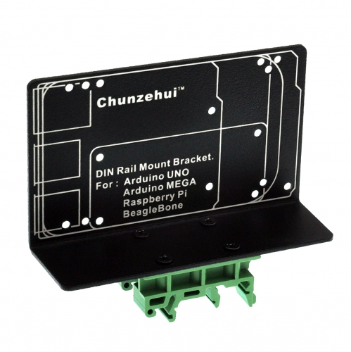 DIN Rail Mount Bracket for Raspberry Pi  Arduino UNO MEGA BeagleBone Black