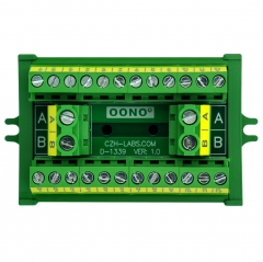 OONO Screw Mount 30A/300V 2x12 Position Terminal Block Distribution Module.