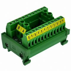 OONO DIN Rail Mount 30A/300V 2x12 Position Screw Terminal Block Distribution Module.