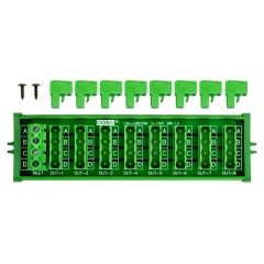 OONO Screw Mount 30A/300V 8x4 Position Pluggable Terminal Block Distribution Module