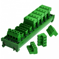 OONO DIN Rail Mount 30A/300V 8x4 Position Pluggable Terminal Block Distribution Module
