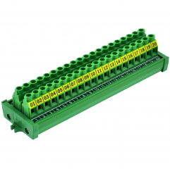 Screw Mount 30A/300V 20 Position Screw Terminal Block Distribution Module