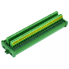 Screw Mount 24A/400V 30 Position Screw Terminal Block Distribution Module.