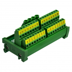 DIN Rail Mount 2x16 Position Screw Terminal Block Power Distribution Module