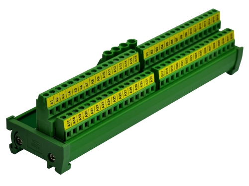 DIN Rail Mount 2x32 Position Screw Terminal Block Power Distribution Module