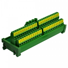 DIN Rail Mount 2x24 Position Screw Terminal Block Power Distribution Module