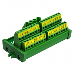Screw Mount 2x16 Position Screw Terminal Block Power Distribution Module