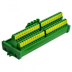 Screw Mount 2x24 Position Screw Terminal Block Power Distribution Module
