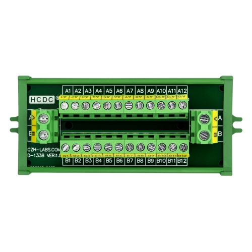 HCDC Screw Mount 30Amp/300V 2x12 Position Terminal Block Distribution Module.