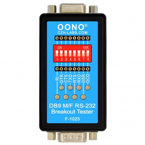RS232 Breakout Tester LED Monitor Module, DB9 Male to Female Breakout Board