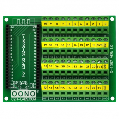 Screw Terminal Block Breakout Module Board for ESP32-S2-Saola-1