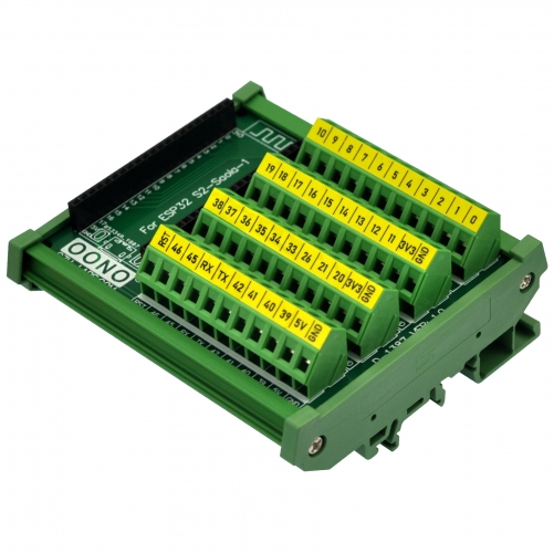 DIN Rail Mount Screw Terminal Block Breakout Module Board for ESP32-S2-Saola-1