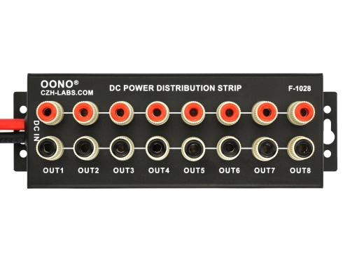 Banana Jack 8 Outlet DC Power Distribution Strip