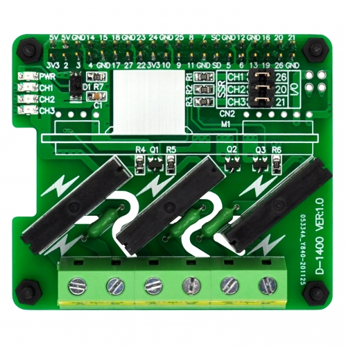 RPi SSR Solid State Relay Board for Raspberry Pi A+ 3A+ B+ 2B 3B 3B+ 4B