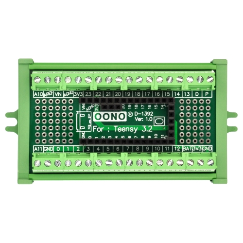 Terminal Block Breakout Board Module for Teensy 3.2, Screw Mount Version