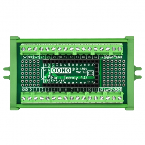 Terminal Block Breakout Board Module for Teensy 4.0, Screw Mount Version