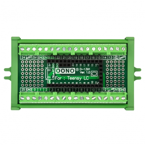 Terminal Block Breakout Board Module for Teensy LC, Screw Mount Version