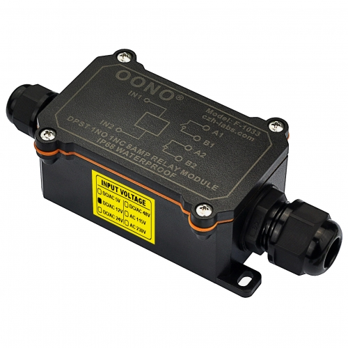 IP68 Waterproof DPST 1NO 1NC 8Amp Power Relay Module (AC/DC 12V)