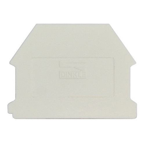 Dinkle DK4NC-WE DIN Rail Terminal Block End Cover - White