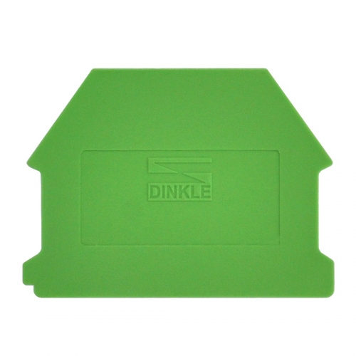 Dinkle DK4NC-GN DIN Rail Terminal Block End Cover - GREEN