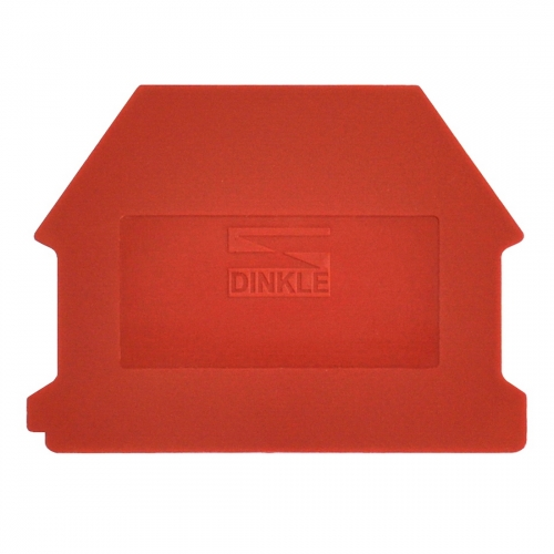 Dinkle DK4NC-RD DIN Rail Terminal Block End Cover - Red