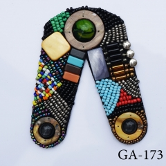 2020 Handmade bohemian colorful stones beads applique patterns accessories brooch shoe patch shoe clip shoe flower
