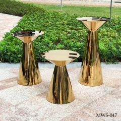 Gold conical cake table tree pedestal stand cake table pedestal stand pillar cylinder table sweet table bar table coffee table side table trade show birthday wedding party christmas decoration byby shower trade show happy birthday Christmas decorations