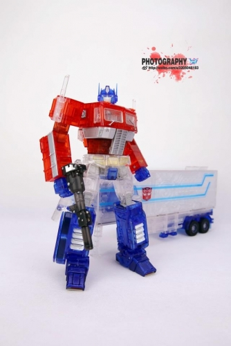 Brand new Loose set Transformers Toy Non-brand Masterpiece MP10C Optimus Prime Clear Version with Trailer