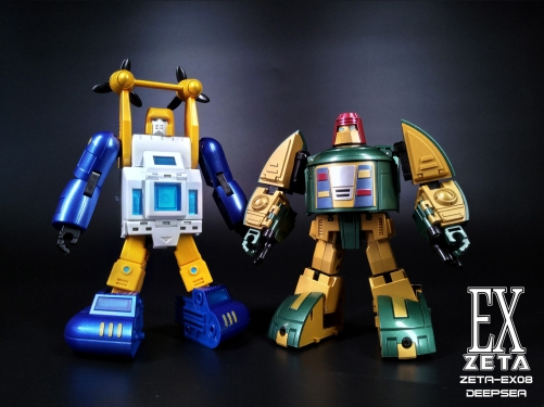Transformer Zeta Toys ZT EX-08 ZETA-EX08 Deepsea Seaspray Metallic Painting Version