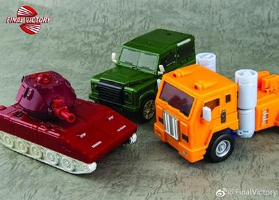 New Transformers FinalVictory FV Three warriors Wardog Huff Brawn Toy sets
