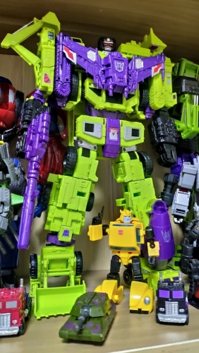 "31cm/12.2"" Transformer COOLBECOMEBRAVE CBB Downsized CW KO Devastator Gravity Builder"