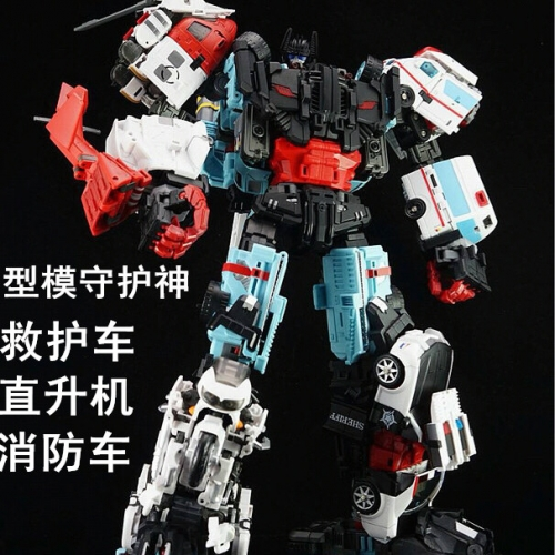 "Set of 4 limbs figures for 45cm/17.7"" Tall Transformer Combiner Yes Model YM Oversized OS Defensor-YM13,YM14,YM15,YM16"