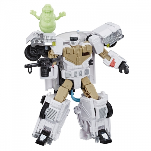 Loose without box HASBRO Ghostbusters ECTO-1 ECTO1 Ectotron Vehicle With Slimer Figure Exclusive Version