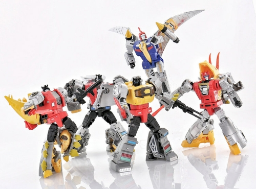 Transformer DX9 Toys War in Pocket Dinobots Set of 5 (X18 Bumper, X19 Quaker, X20 Skyer, X21 Thorner, X22 Rager)