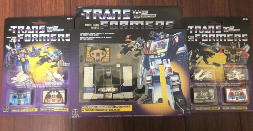 Transformers G1 Soundwave & Buzzaw and Cassettebots 2-pack (Ravage & Rumble and Frenzy & Laserbeak) Re-issue