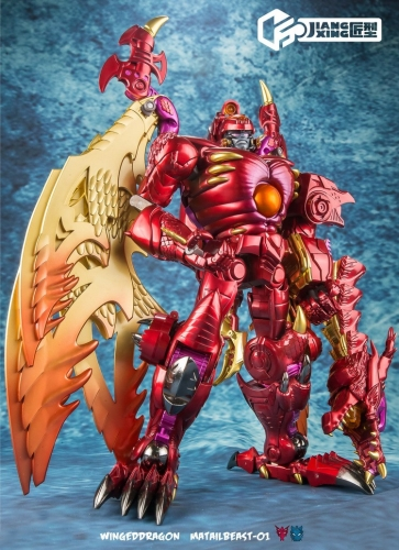 Jiangxing JX JX-MB-01 JX-MB01 Winged Dragon Beast Megatron WingedDragon Red Dragon