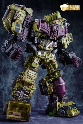 BOXED Jinbao Battle Damaged Version Complete set of 6 Oversized Devastator Gravity Builder