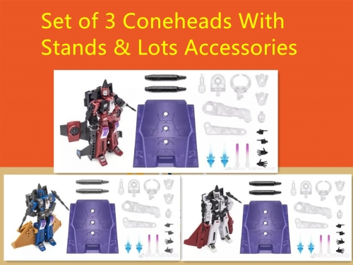 Set of 3 Coneheads-NewAge New Age  NA H16 H17 H18 Beelzebul,Mammon & Mephisto Thrust,Ramjet & Dirge