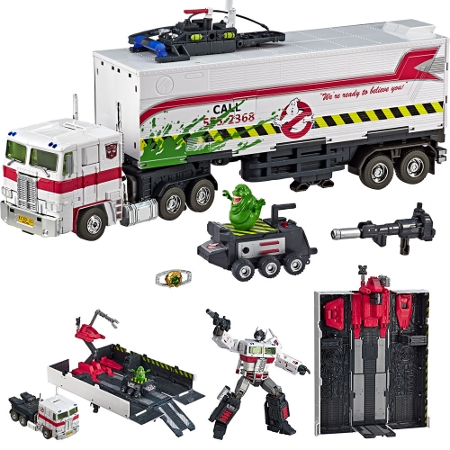 None-brand Transformer Ghostbusters MP-10G MP10G ECTO-35 Optimus Prime  With Trailer SDCC Exclusive Version