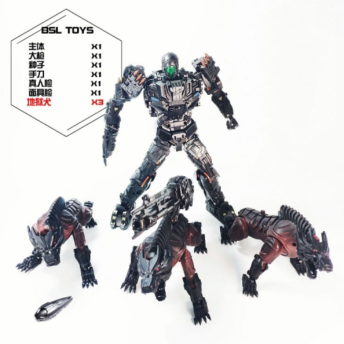 Transformer BSL Toys BSL-01 BSL-01 Peru Kill AOE Lockdown with Steeljaw 3 dogs